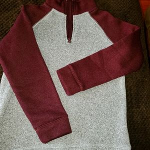 Knitted fleece pullover